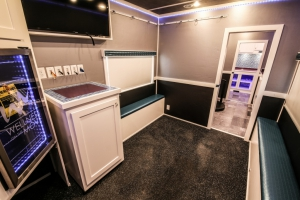 custom fitness trailer interior 005