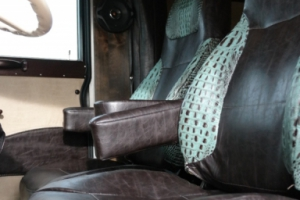 custom peterbilt cab trailer interior 006